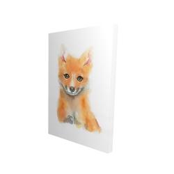 Canvas 24 x 36 - 3D - Watercolor baby fox