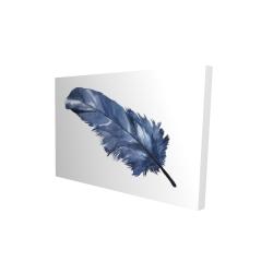 Canvas 24 x 36 - 3D - Blue feather