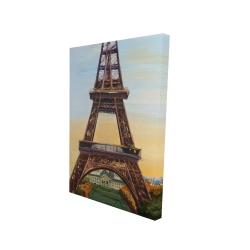 Canvas 24 x 36 - 3D - Eiffel tower by dawn