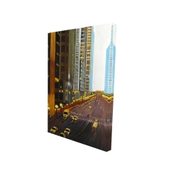 Canvas 24 x 36 - 3D - New york city 9th street