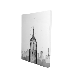 Canvas 24 x 36 - 3D - Empire state building