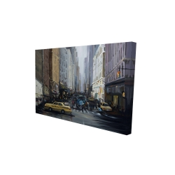Canvas 24 x 36 - 3D - In the city