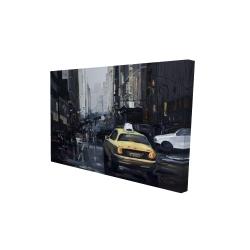 Canvas 24 x 36 - 3D - New york in the dark