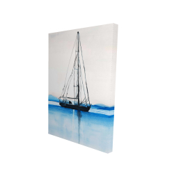 Canvas 24 x 36 - 3D - Sailboat on a calm water