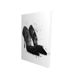 Canvas 24 x 36 - 3D - Black pumps