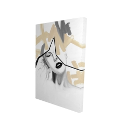 Canvas 24 x 36 - 3D - Divided woman