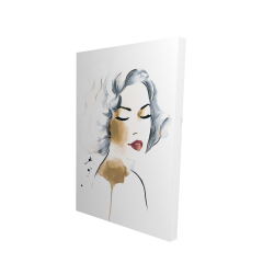 Classic woman watercolor