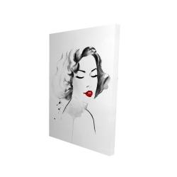 Canvas 24 x 36 - 3D - Watercolor woman