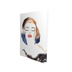 Canvas 24 x 36 - 3D - Vintage chic maryline monroe