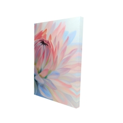 Canvas 24 x 36 - 3D - Lotus pastel flower