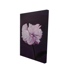 Toile 24 x 36 - 3D - Magnifique fleur mauve