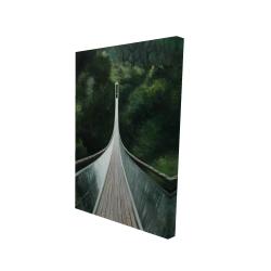Canvas 24 x 36 - 3D - Steep bridge