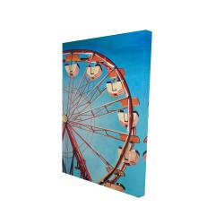 Canvas 24 x 36 - 3D - Ferris wheel by a beautiful day