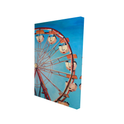 Canvas 24 x 36 - 3D - Ferris wheel by a beautiful day