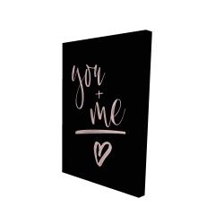 Canvas 24 x 36 - 3D - You + me