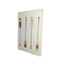 Canvas 24 x 36 - 3D - Canoe paddles