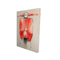 Canvas 24 x 36 - 3D - Small red moped