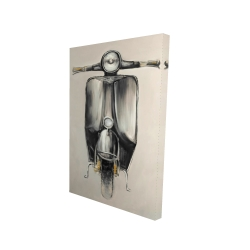 Canvas 24 x 36 - 3D - Small black moped