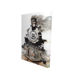 Canvas 24 x 36 - 3D - Vintage train