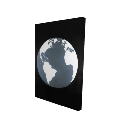 Canvas 24 x 36 - 3D - Earth satellite view