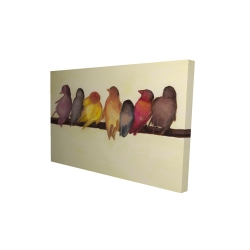 Canvas 24 x 36 - 3D - Bird family