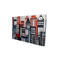 Canvas 24 x 36 - 3D - Geometric urban landscape