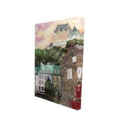 Canvas 24 x 36 - 3D - Château frontenac in the petit champlain