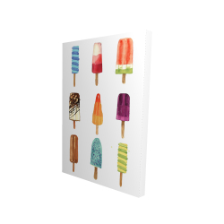 Canvas 24 x 36 - 3D - Iced lollipop