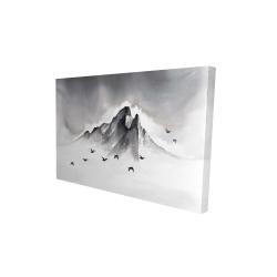Canvas 24 x 36 - 3D - Mountain peak