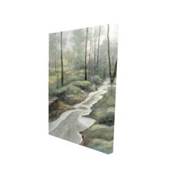 Canvas 24 x 36 - 3D - Waterfall