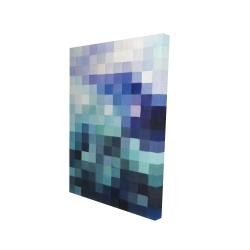 Canvas 24 x 36 - 3D - Pixelized landscape