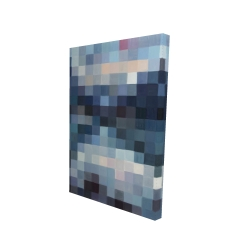 Canvas 24 x 36 - 3D - Pixelated mountainous landscape