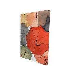 Canvas 24 x 36 - 3D - The umbrellas of petit champlain