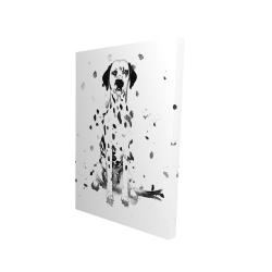 Canvas 24 x 36 - 3D - Dalmatian dog