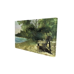 Canvas 24 x 36 - 3D - Day at the lake