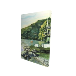 Canvas 24 x 36 - 3D - Sailboat day