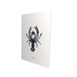 Canvas 24 x 36 - 3D - Blue lobster