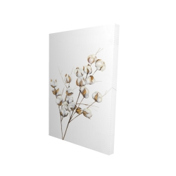 Canvas 24 x 36 - 3D - A branch of cotton flowers