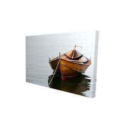 Canvas 24 x 36 - 3D - Rowboat on calm water