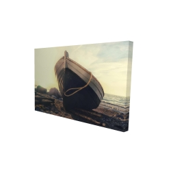 Canvas 24 x 36 - 3D - Rowboat at the water's edge