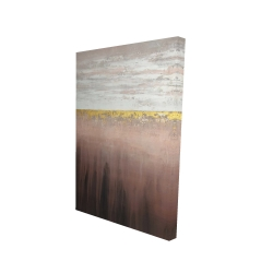 Canvas 24 x 36 - 3D - Golden pink