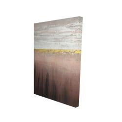 Canvas 24 x 36 - 3D - Golden pink