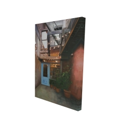 Canvas 24 x 36 - 3D - Cozy little place