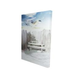 Canvas 24 x 36 - 3D - Break at the beach