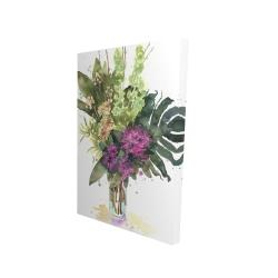 Canvas 24 x 36 - 3D - Tropical flower assemblage