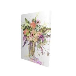 Canvas 24 x 36 - 3D - Romantic bouquet