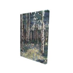 Canvas 24 x 36 - 3D - Birches
