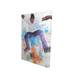 Canvas 24 x 36 - 3D - Skater