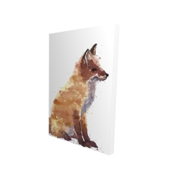 Canvas 24 x 36 - 3D - Red fox
