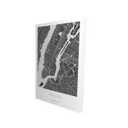 Canvas 24 x 36 - 3D - New york graphic map